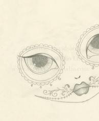 Sugar Skull Girl Sketch